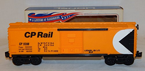 Lionel Trains 6-9208 CP Rail Boxcar BOXED Canadian Pacific 1971 DarkYellow O MPC ()