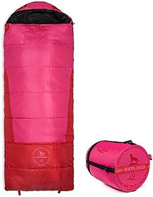 Lucky Bums Juventud Explorer 10 Grados Saco de Dormir, Color Rosa, tamaño 74-Inch, 3.1, 74 x 24 x 4inches