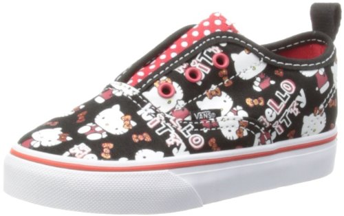VANS Toddlers Authentic V (Hello Kitty) Black/Red Toddler 5