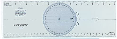 Linex 100413018 paralelo Regla 30 cm Con Ángulo Cuchillo con división nautischer para navegación: Amazon.es: Oficina y papelería