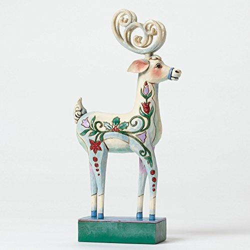 Jim Shore for Enesco Heartwood Creek Winter Wonderland Reindeer Figurine, 10.25