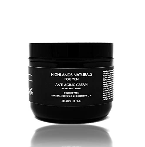 Anti Aging Face Cream for Men by Highlands Naturals | Daily Defense Moisturizer | Advanced Skin Care Treatment | Natural & Organic 4 oz