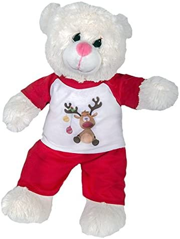 Reindeer Slippers Teddy Bear Clothes Fits Most 14-18 Build-a-Bear and Make Your Own Stuffed Animals Teddy Mountain
