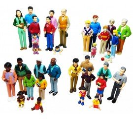 Asian Play Dolls (Multi-ethnic Pretend Play Family Set - 32 pieces)