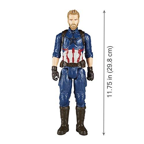 Boneco Capitão América, Hasbro, Titan Hero, Azul, 30cm