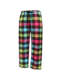 Boxercraft Neon Buffalo Flannel Tie Cord Pants for Sports, Lounging, Teams Large-Neon