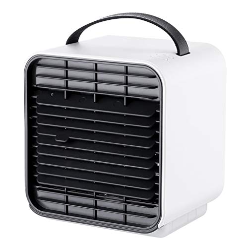 (Personal Air Conditioner, Portable Air Cooler,USB Charging Mini Cold Fan Small Air Conditioning Fan Air Cooler,Home Office Dormitory Creative Gifts (Color : White))