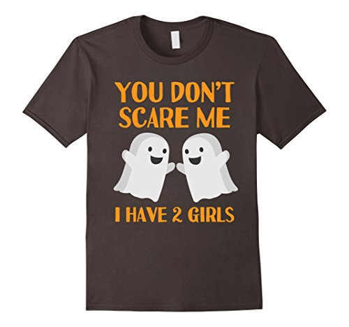 Mens Funny Mom Dad Parents of Two Daughters Halloween Shirt XL Asphalt (Mom Dad And Daughter Halloween Costume Ideas)