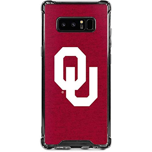 Skinit Oklahoma Sooners Red Galaxy Note 8 Clear Case - Skinit Clear Case - Transparent Galaxy Note 8 Cover