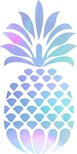 Pineapple (Hologram) (Set of 2) Premium Waterproof Vinyl Decal Stickers for Laptop Phone Accessory Helmet Car Window Bumper Mug Tuber Cup Door Wall Decoration (Hologram Cup)