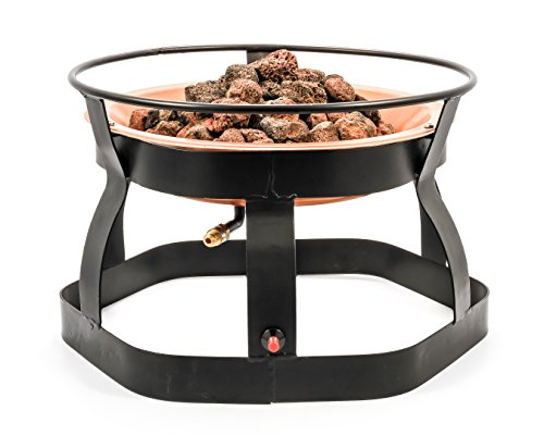 Camco 51210 18-Inch Portable Deluxe Outdoor Fire Pit, 65,000 BTU's, Includes 10 Foot Propane Hose