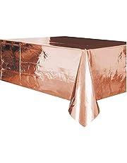 Unique Party Supplies 53273 plastic tafelkleed - 2,74 m x 1,37 m - roségoud-folie