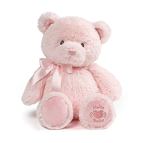 Baby GUND My First Teddy Sound Toy Stuffed Animal Plush in Pink, 10""