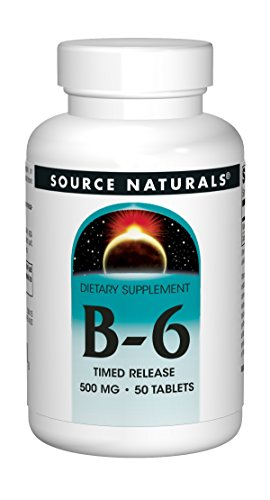 Source Naturals: Vitamin B-6 500 mg 50 Timed Release Tablet