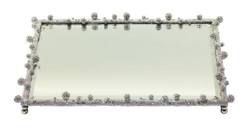Olivia Riegel Silver Pave Odyssey Vanity Tray by Olivia Riegel