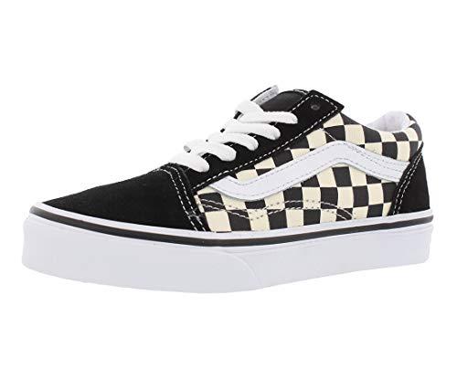 (Vans Kids K Old Skool Primary Check Black White Size)