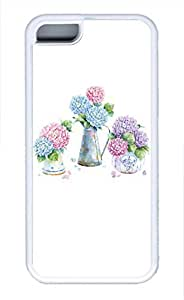 iPhone 5c case, Cute Beautiful Hydrangea iPhone 5c Cover, iPhone 5c Cases, Soft Whtie iPhone 5c Covers