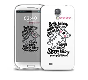 soft kitty hearts Samsung Galaxy S4 GS4 protective phone case