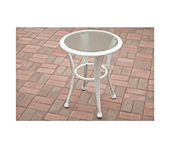white outdoor side table. Better Homes And Gardens Azalea Ridge Outdoor Side Table, White Table E