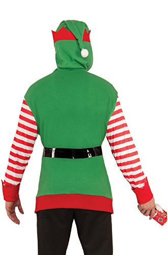 Forum Novelties Elf Hoodie Adult Costume (Standard)-