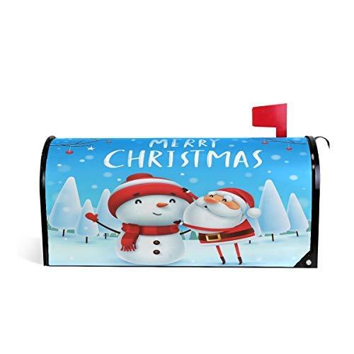 - Tollyee Christmas Santa Makes Snowman Magnetic Mailbox Cover Magnetic Mailbox Cover 6.5