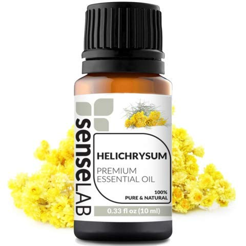Helichrysum Essential Oil by SenseLAB - 100% Pure, Natural and Highly Concentrated; Therapeutic Grade Oil 0.33 fl oz (10ml)