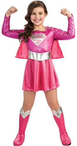 Pink Supergirl Child's Costume, Medium -