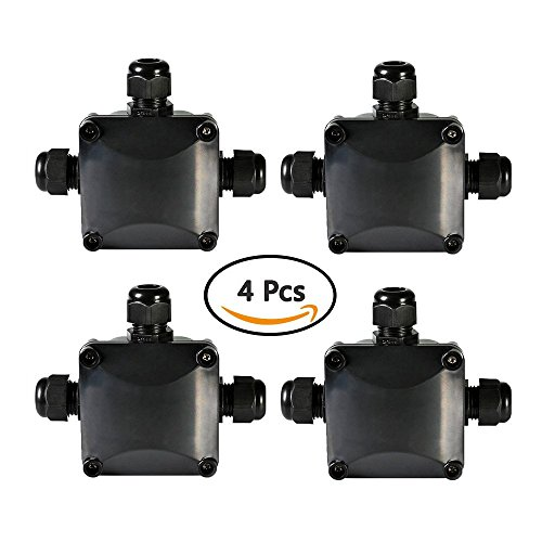 Asdomo - Caja de derivación Impermeable, 4 Unidades, Conector de Cable IP68 Grande, 3 vías al Aire última...