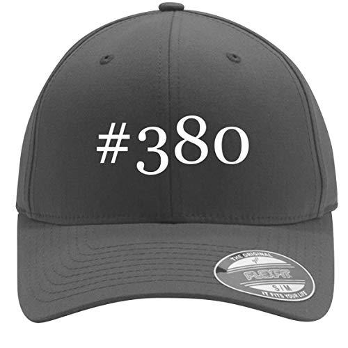 #380 - Adult Men's Hashtag Flexfit Baseball Hat Cap, Silver, Small/Medium