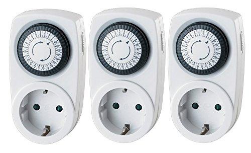 Garza Power - Temporizador analógico Mini, blíster de 3 unidades: Amazon.es: Bricolaje y herramientas