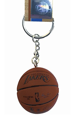 (aminco NBA Officially Licensed Los Angels Lakers Mini Spalding Basketball Keychain )