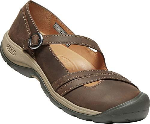 KEEN - Women's Presidio II Cross Strap Lace Up Shoes, Dark Earth/Cornstalk, 9 M US (Cross Shoes Strap)
