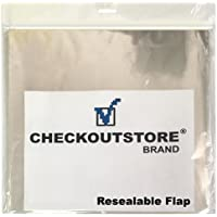 1,000 COS Clear Plastic OPP Outer Sleeves with Sealable Flap for 12 Vinyl 33 RPM Records Budget
