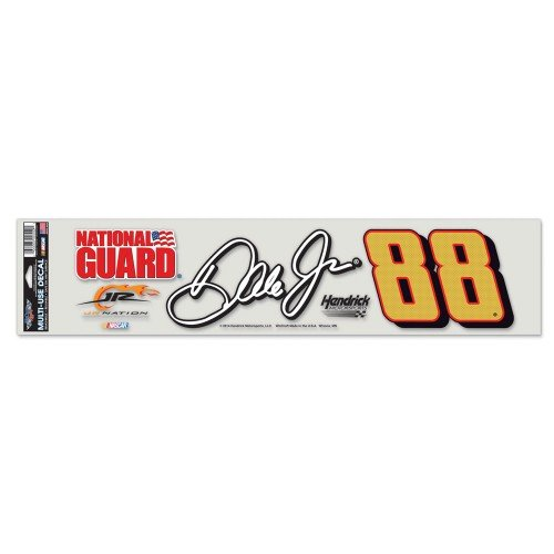 "Dale Earnhardt Jr NASCAR 4"" X 17"" Multi Use Decal"