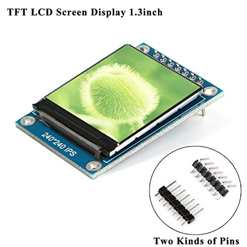 MakerFocus TFT LCD Screen Display 1.3inch TFT LCD Module, 240240 IPS 65K Full Color 3.3V with SPI Interface ST7789 IC Driver, 51 STM32 Arduino Routines for DIY