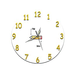 KeeYi Wall Clock - See Timers at A Glance Modern Silent Wall Clock Non Ticking, Decorative for Kitchen, Living Room, Bedroom, Bathroom, Bedroom, Office 28CM