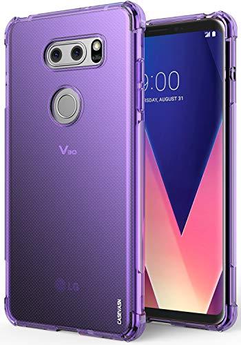 LG V30 / LG V30S / LG V30 Plus/LG V30S ThinQ/LG V35 / LG V35 ThinQ Case, CASEVASN [Slim Thin] Anti-Scratches TPU Gel Slim Fit Soft Skin Silicone Protective Case Cover (Purple)