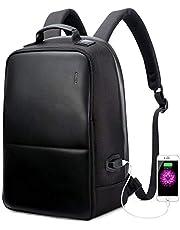 BOPAI Diebstahlsicherer Computer Rucksack Business Laptop Rucksack 15,6 Zoll Laptop Wasserdicht mit USB Anschluss Aufladen Reisetasche Funktions Daypack Schwarz