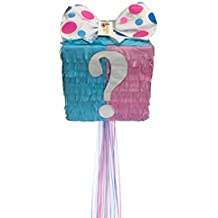 APINATA4U Mystery Gift Box Gender Reveal Pinata Traditional & Pull Strings Style
