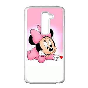 LG G2 Cell Phone Case White Disney Mickey Mouse Minnie Mouse U3607294