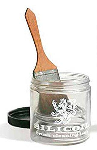 Silicoil Pinselreinigungsbehaelter aus Glas