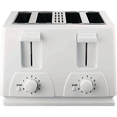 Brentwood TS-264 4-Slice Toaster (4 Slice White Toaster)