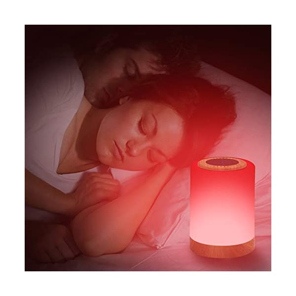 Touch Lamp Bluetooth Speaker,Portable LED Touch Sensor Table Lamp Dimmable Multi-Color Changing Night Light, MP3 Player, Handsfree Calls Bluetooth Speaker Support TF Carte Rechargeable 6