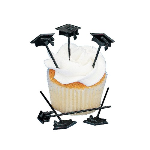 Fun Express 72 pc Graduation Cupcake or Appetizer Picks (Graduation Tableware)