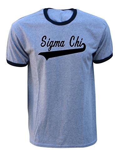 Mega_Greek Mens Sigma Chi Tail Ringer T-Shirt XX-Large Grey - Tail Ringer