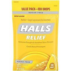 Halls Sugar Free Cough Suppressant, Hone...