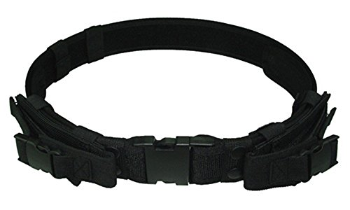 Ultimate Arms Gear Stealth Black Tactical Utility Belt with Mag Pouches up to Size 46 For Colt 1911 Single Action Army Python Pistol Handgun Guns