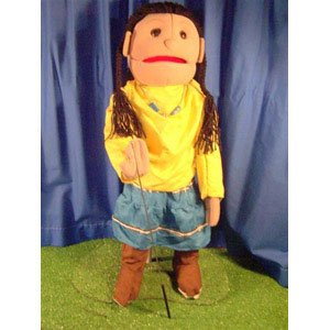 Sunny Toys GS4597 28 In. American Indian Girl , Full Body...