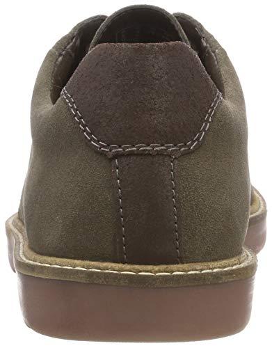 Hombre Graphite Grandin Brogue Clarks para de Plain Zapatos Cordones Gris R0aa1qgw
