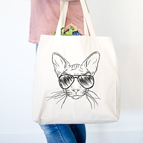 (Sammy the Sphinx Cat Heavy Duty 100% Cotton Canvas Tote Shopping Reusable Grocery Bag 14.75 x 14.75 x 5)